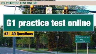 G1 practice test: Ontario driving test preparation 2