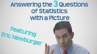 Statistics in Schools - Answering the 3 Questions of Statistics Using a Picture