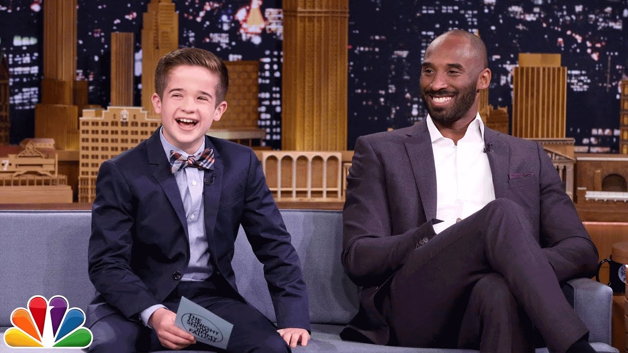 S.I. Kids Reporter Max Bonnstetter Interviews Kobe Bryant. The Tonight Show  Starring Jimmy Fallon faa0ba81c
