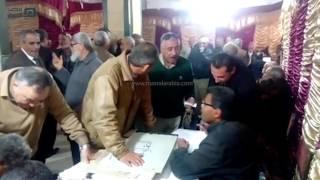 بالفيديو إقبال كثيف على انتخابات نقابة الزراعين بالمنيا