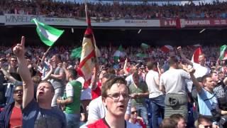 Feyenoord wij houden van die club in de rust van Feyenoord Heracles