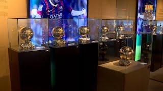 El sexto Balón de Oro de Messi ya luce en el museo