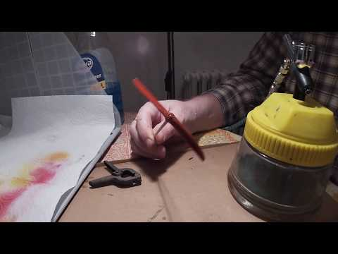 Painting a Wooden Propeller with a Mask