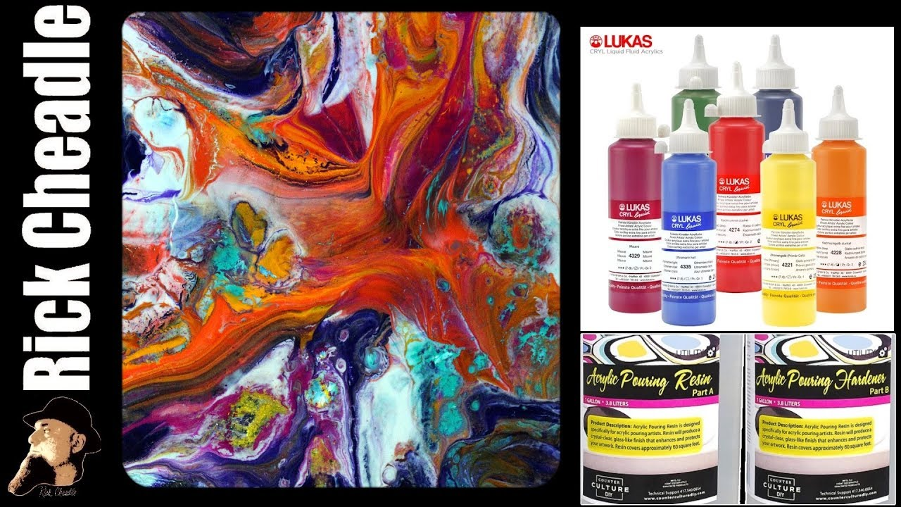 Recycling Old Art  LUKAS CRYL Liquid Paints and Counter Culture DIY Resin