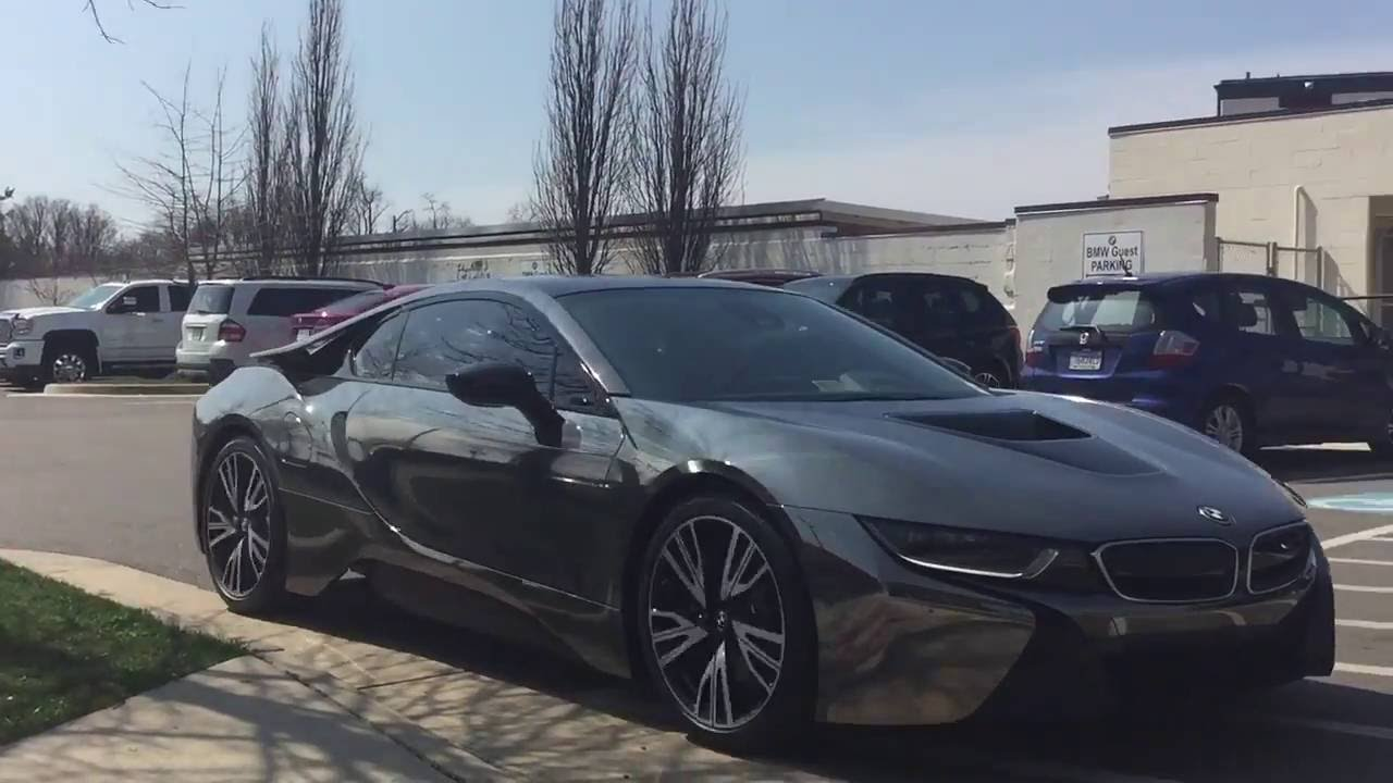 Bmw I8 Wrapped In Chrome Black Part 1 Youtube