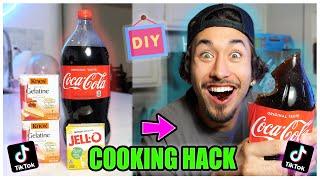 We TASTED Viral TikTok Cooking Life Hacks... (GIANT GUMMY FOOD?!) *Part 14*