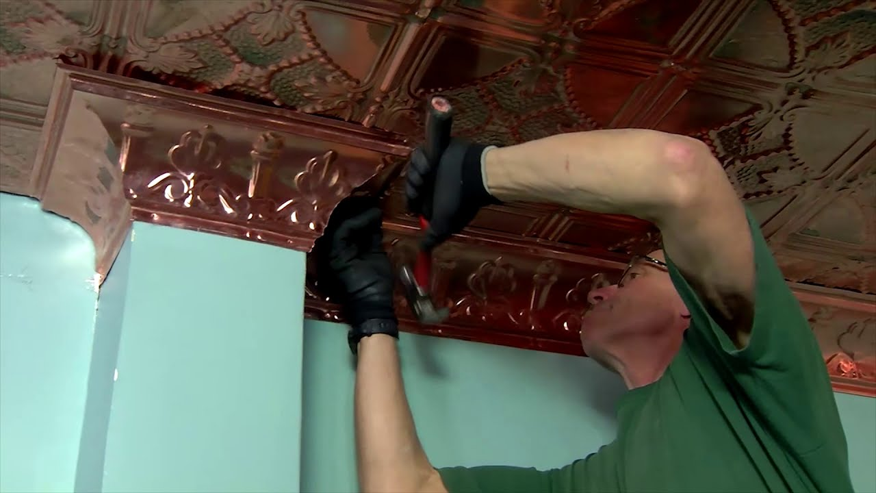 Copper Ceiling Tiles And Cornice