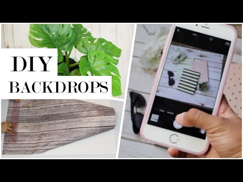 How To Flat Lay Photography | Easy DIY Backdrops