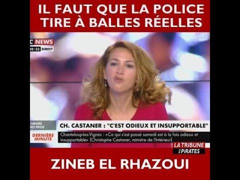 """Zineb El Rhazoui : """"il faut que la police tire à balles réelles"""" (dans les quartiers)"""