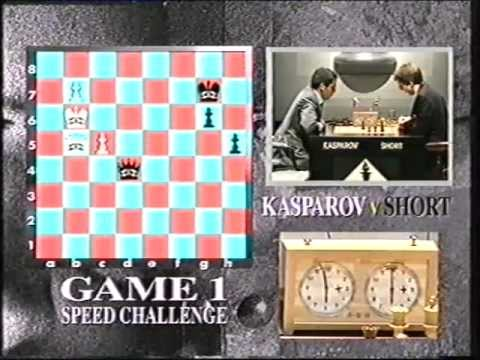 Kasparov v Short 1993 Speed Challenge Game 1