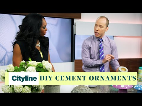 DIY cement ornaments for your garden