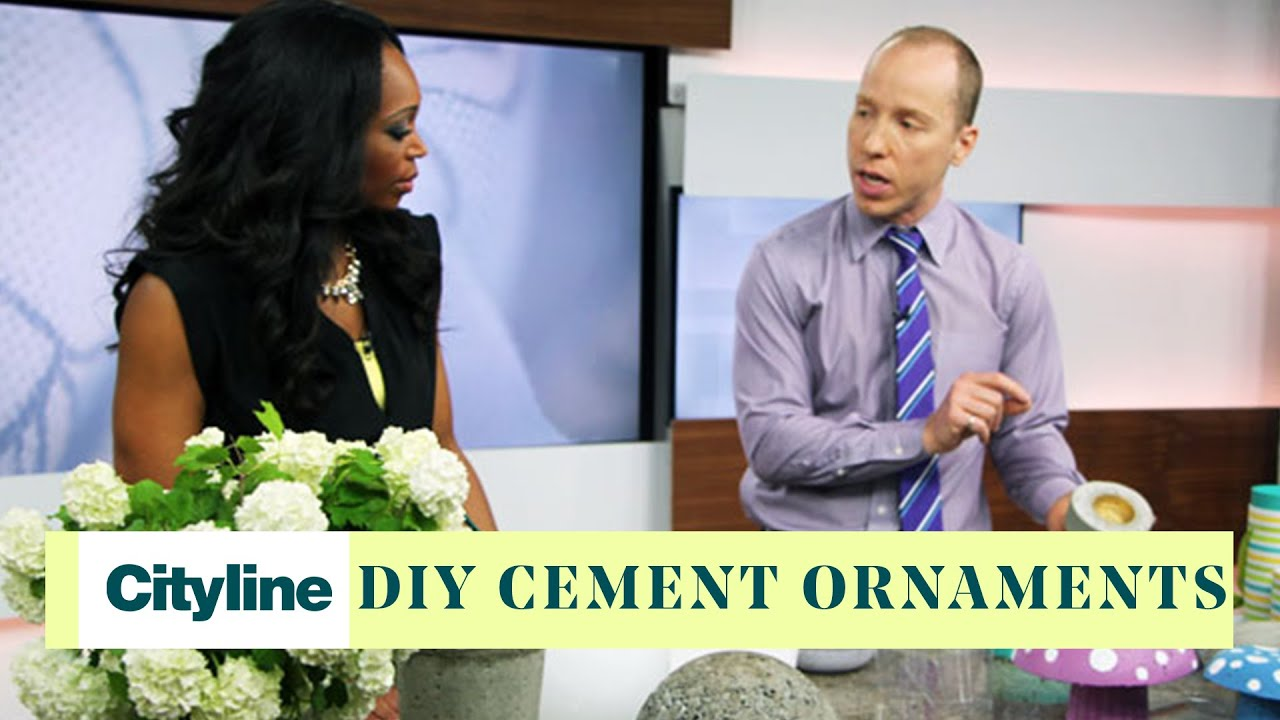 Diy Cement Ornaments For Your Garden Youtube