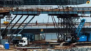 КРЫМСКИЙ МОСТ  Строительство сегодня 18 03 2018  Свежие новости  Керченский мост