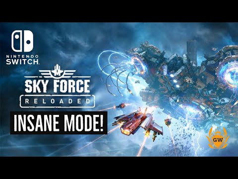 STAGE 2! INSANE MODE! SKY FORCE RELOADED! SWIFT JUSTICE! NINTENDO SWITCH! LETS PLAY! GAMERZWORLD!