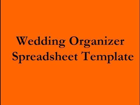wedding planning spreadsheet organizer youtube