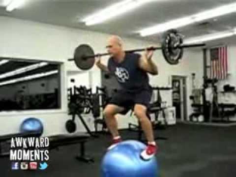 Crazy Exercise Ball Squat - YouTube