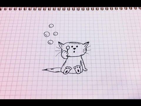 видео: Простые рисунки # 147. Котёнок =)