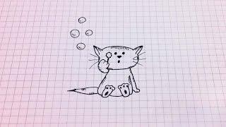 Простые рисунки # 147. Котёнок =)(Группа вконтакте: http://vk.com/club56726443 Как нарисовать простой рисунок обычной ручкой за несколько минут. Спасиб..., 2014-11-05T14:29:52.000Z)