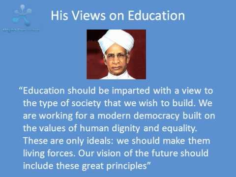 Research articles on dr radhakrishnan as educationist