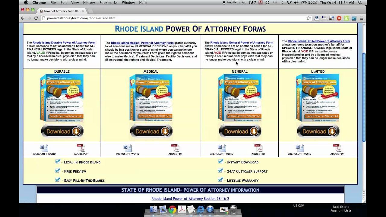 Power of attorney form rhode island youtube power of attorney form rhode island falaconquin
