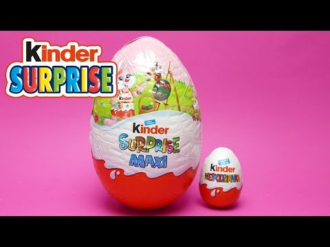 Thumbnail: Mega Giant Special Kinder Surprise Egg - Easter Edition 2017