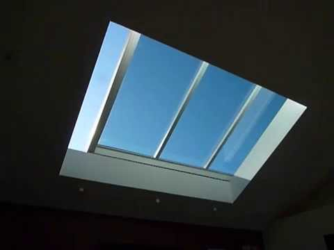 Attractive 8 Foot By 11 Foot Motorized Retractable Skylight