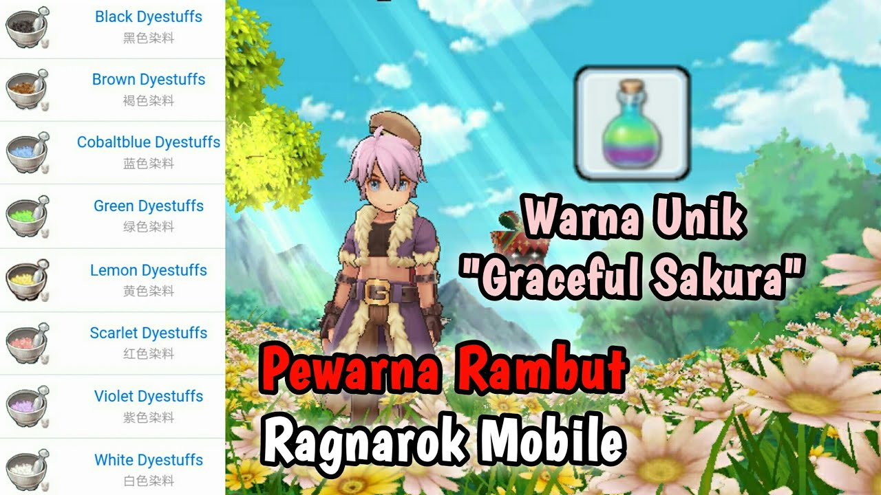Warna Rambut Graceful Sakura - Ragnarok Mobile