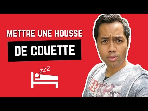comment enfiler une housse de couette youtube. Black Bedroom Furniture Sets. Home Design Ideas