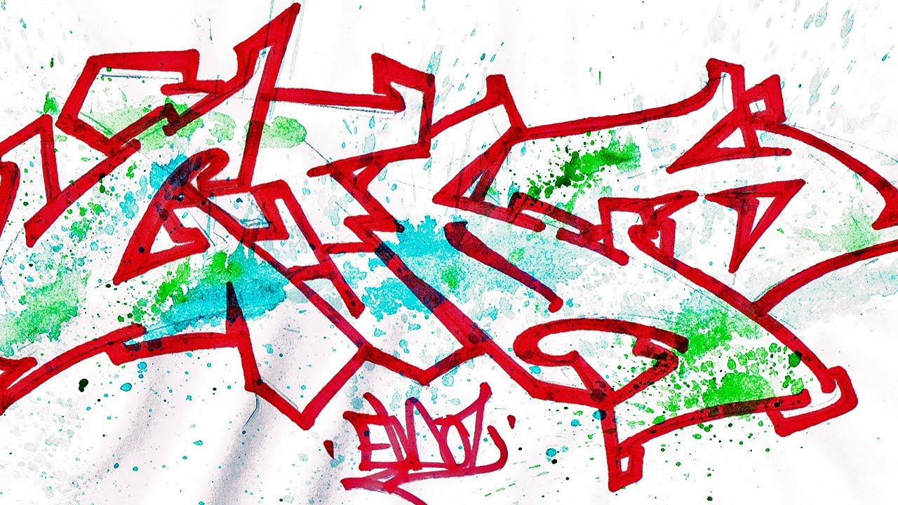 Step By Step How To Draw Graffiti Letters - Write GTA5 In ...Graffiti To Draw Step By Step