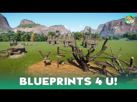 Planet Zoo Blueprints - Climbing Rigs & Temple Set incl. Download