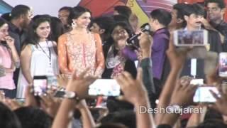 Bollywood actress Deepika Padukone at Navratri Garba event in Ahmedabad Gujarat
