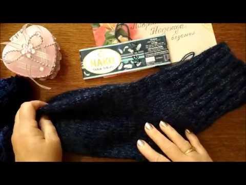 Как связать простые мужские носки спицами