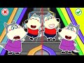 Wolf Family🌞 No No! Play Safe! - Wolfoo Learns Escalator Safety Tips for Kids + More | Kids Videos