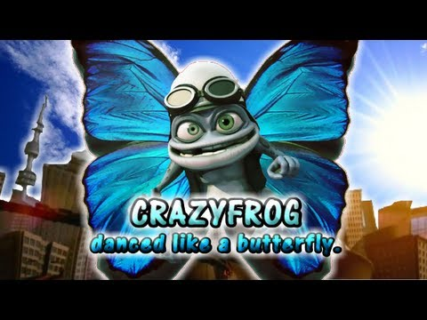 CrazyFrog danced like a butterfly蛙のように舞いーニョ