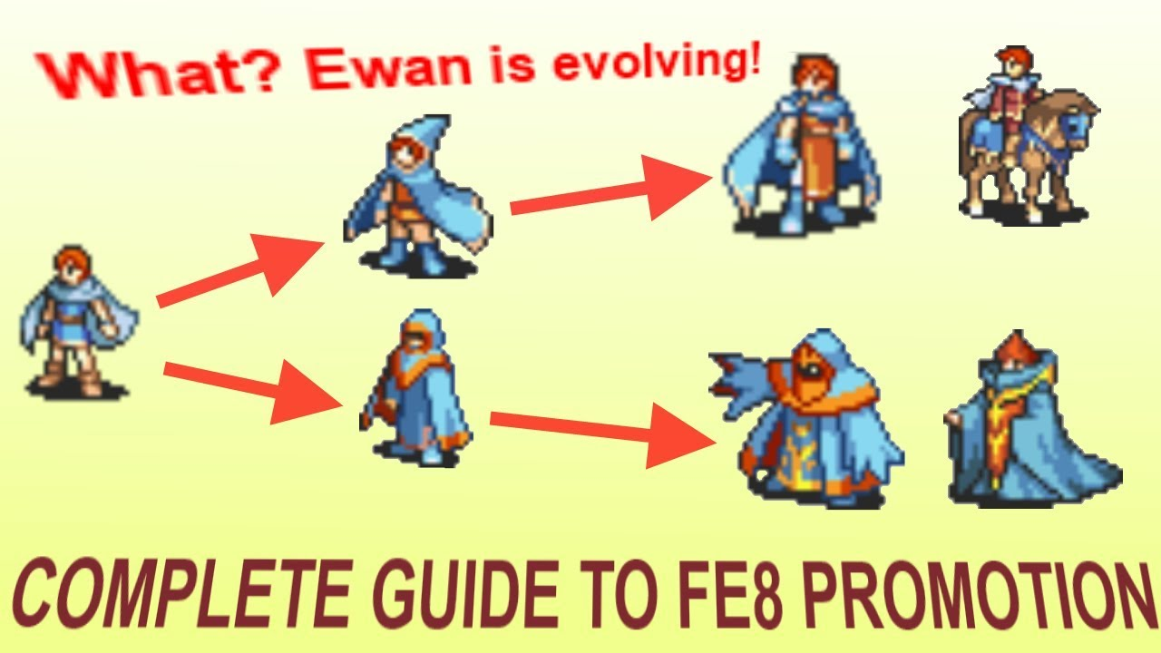 Promotion Guide For Fire Emblem The Sacred Stones Youtube