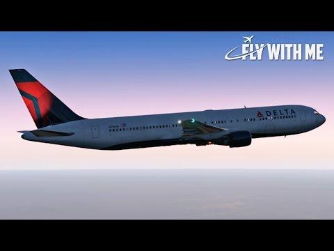 Boeing 767 to KSTL (Full Flight) | X-Plane 11 Live!