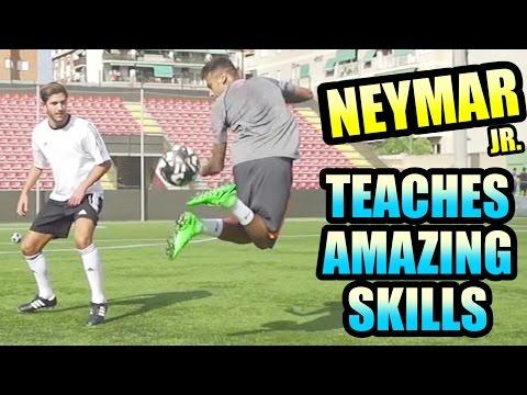 NEYMAR Jr. Teaches Amazing Skills!!! Can...