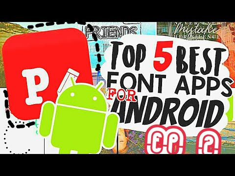 Editing101: Ep 2: TOP 5! BEST Font Apps For Android!