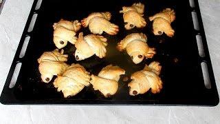 Сдобные булочки птички из дрожжевого теста домашняя выпечка