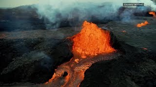New Film Captures Molten Lava And Fiery Explosions From Volcanoes