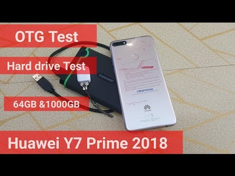 Huawei Y7 Prime 2018 OGT Test & 1TB hard drive Test