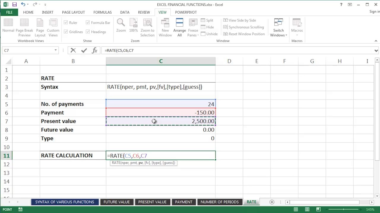 rate excel