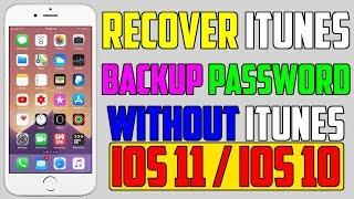 Recover iTunes Data Backup Without iTunes Password (NO Jailbreak) iPhone, iPad & iPod
