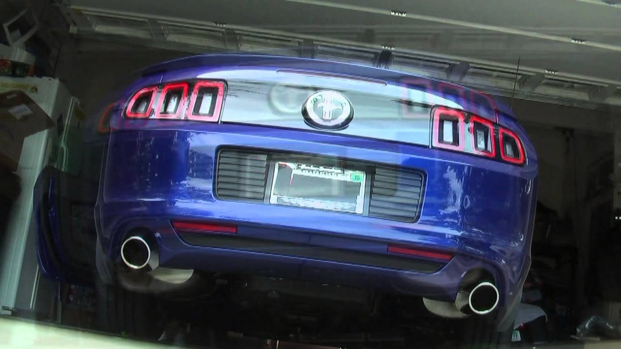 2014 V6 Mustang Stock Exhaust vs Ford Racing Sport Axle ...