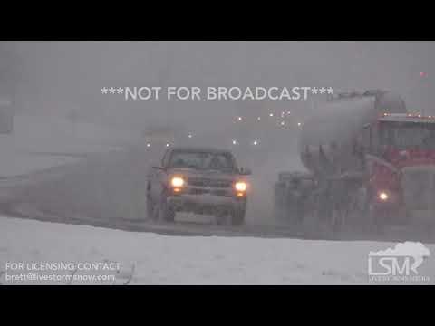 12-8-17 Shelby County, Alabama Heavy Snow - Slick Travel