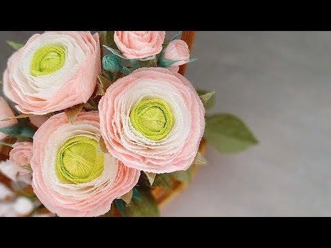 Diy ranunculus paper flower from crepe paper youtube diy ranunculus paper flower from crepe paper mightylinksfo