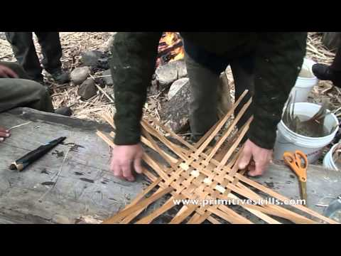 Weaving the Ash Pack Basket
