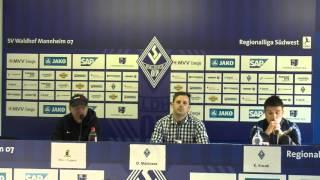Pressekonferenz SV Waldhof Mannheim - Eintracht Trier