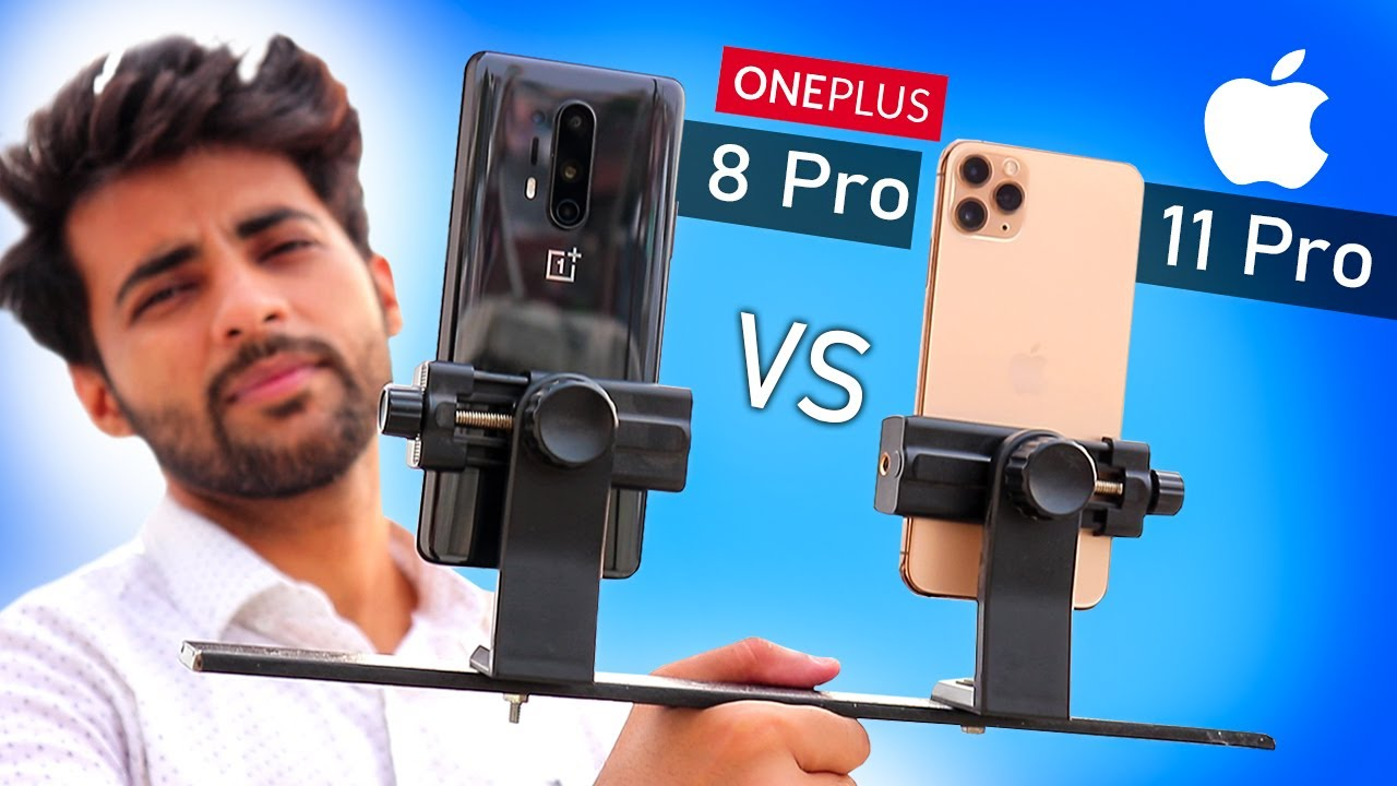 OnePlus 8 Pro Vs iPhone 11 pro max - Camera Comparison !! 🔥