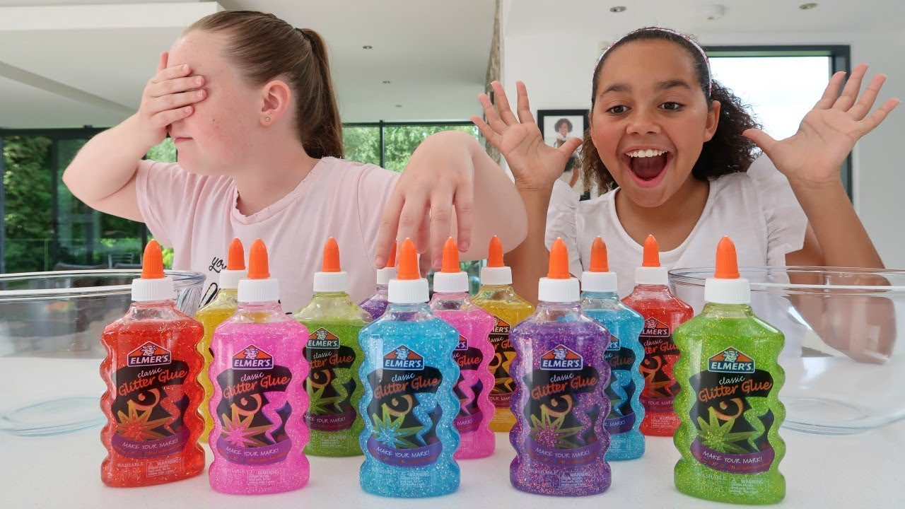 3 Colors Of Glue Slime Challenge Youtube
